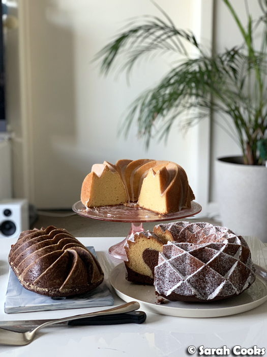 Gingebread, lemon bundt, Marmorkuchen marble cake