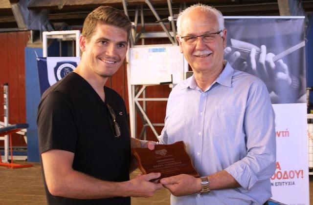 Ο Ολυμπιονίκης Σπύρος Γιαννιώτης βραβεύτηκε στη Λάρισα (ΦΩΤΟ)