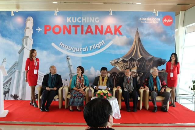 Siaran Pers penerbangan perdana Air Asia Pontianak Kuching