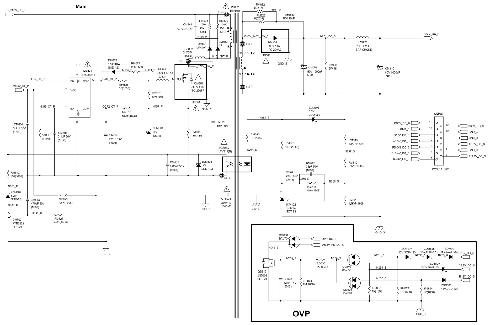 Samsung MX F630 – Power Amplifier and SMPS circuit diagram | Electro ...