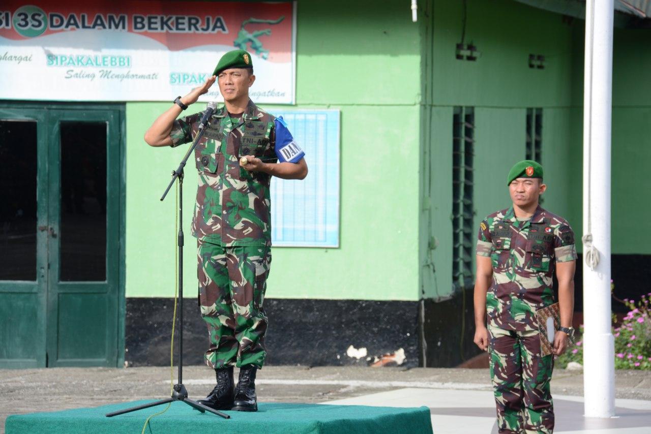 Dipimpin Danrem, Korem 141/Tp Gelar Kesiapan Latihan Pengamanan Pemilu