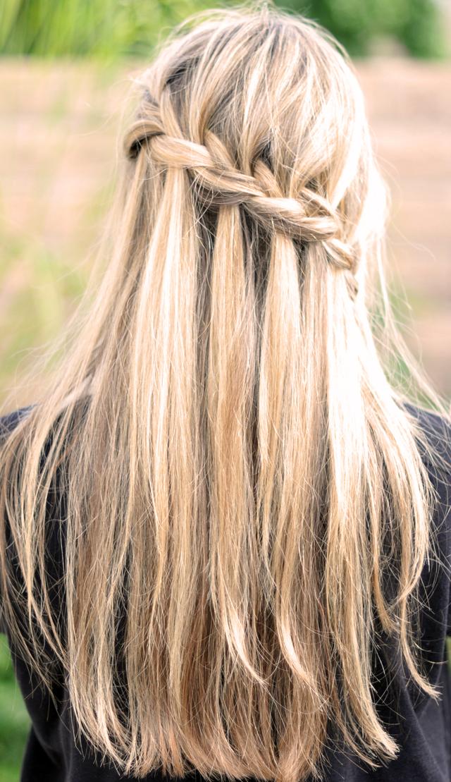 Fun Braids For Bad Hair Days: Waterfall Braids Need Styling Cream To Help