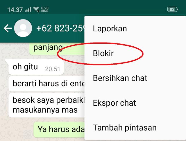 Cara Blokir nomor WA Permanen tanpa diketahui pemiliknya