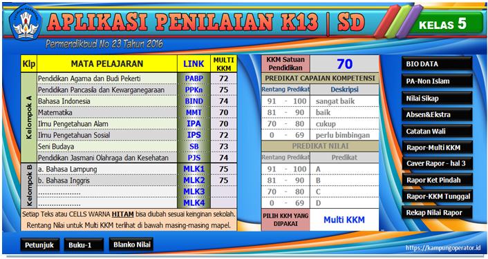 Download Aplikasi Cetak Raport Kurikulum 2013 Versi Terbaru