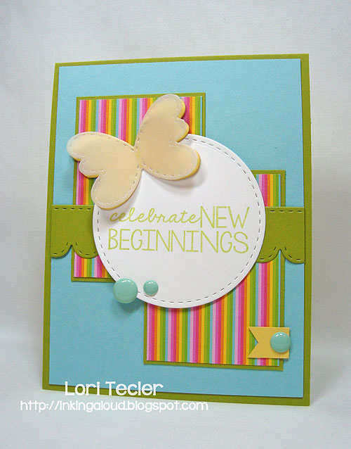 Celebrate New Beginnings-designed by Lori Tecler/Inking Aloud-stamps and dies from Lil' Inker Designs