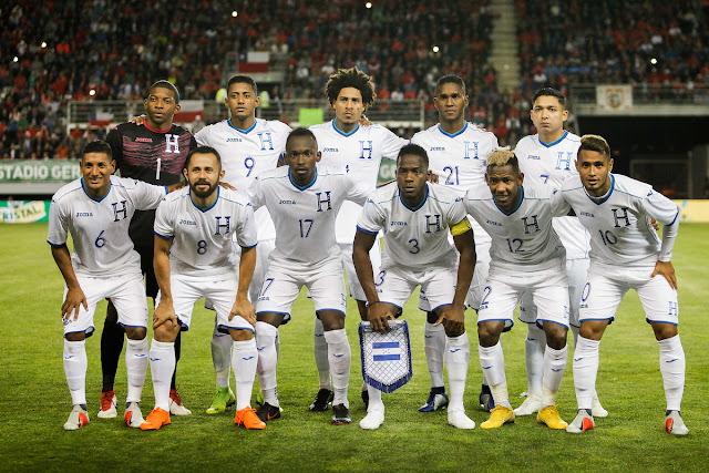 Formación de Honduras ante Chile, amistoso disputado el 20 de noviembre de 2018