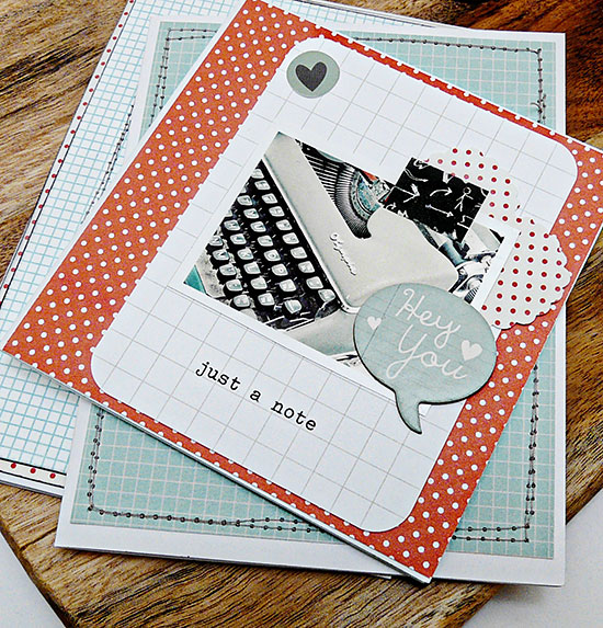 Typewriter notecards for National stationery week by Sian from From High in the Sky