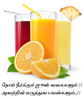 Noi theerkkum juice vagaigalum avattrin maruthuva payangalum, juice and its benefits in tamil, grape juice, orange juice lemon, carrot, tomato, beetroot, pineapple juice benefits