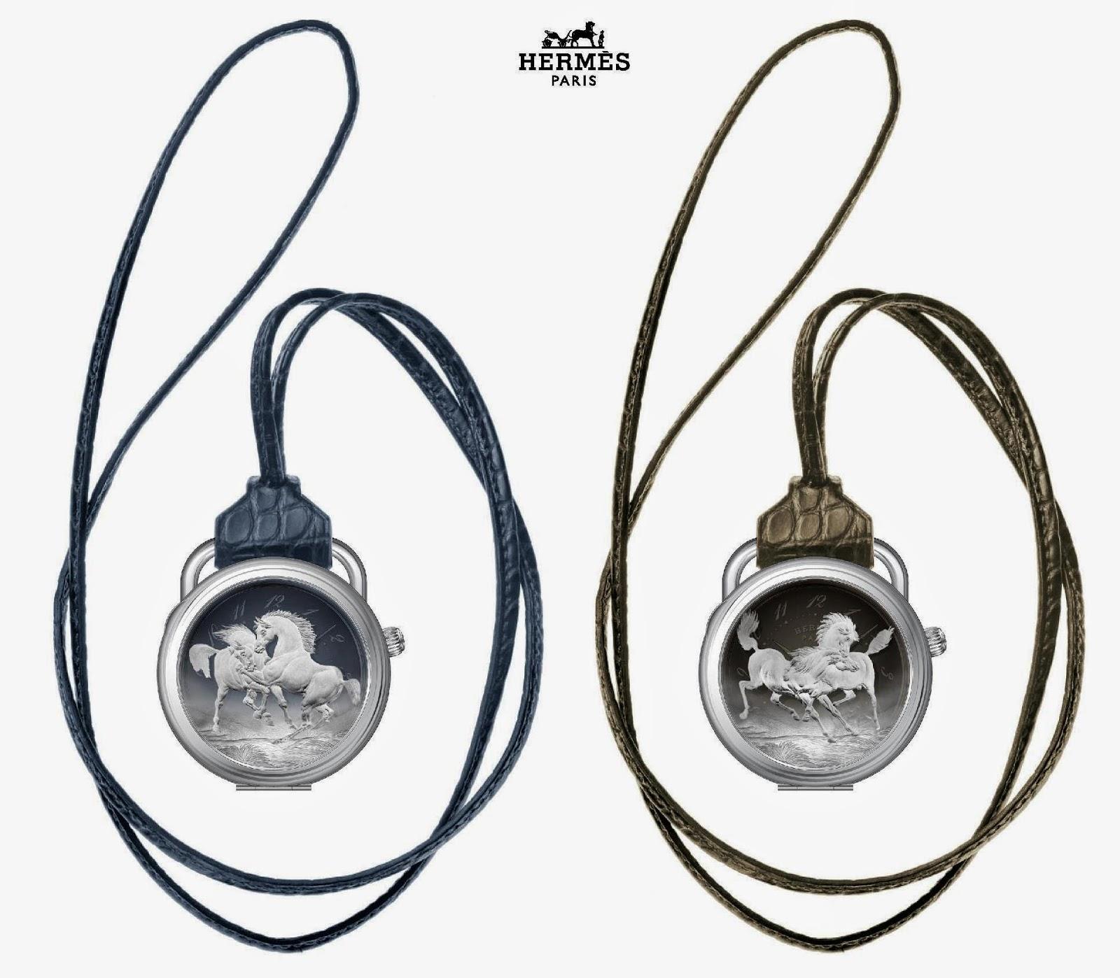Hermès Arceau Pocket Chevaux sauvages watch