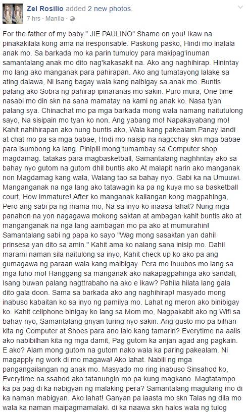Facebook Post Of A Girl Who Suffered Years Of Abuse From An Abusive Guy Who Is The Father Of Her Child Goes Viral! Must Read!