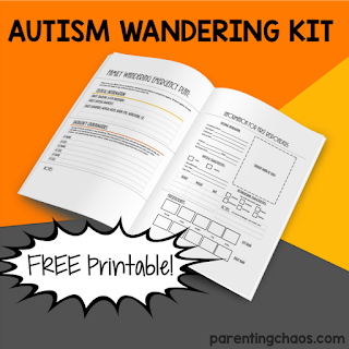 Free printable autism wandering kit for autism families
