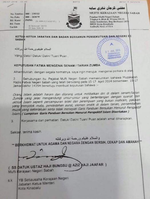 Senaman Zumba Adalah Haram Di Sisi Agama Islam - Mufti