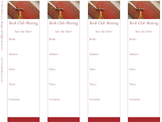 Meeting Bookmark Printable