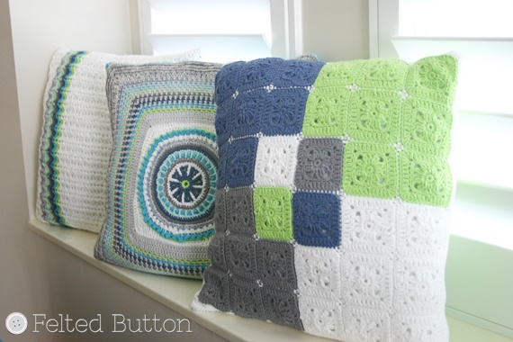 Taking Shape Pillow Set Crochet Pattern by Felted Button