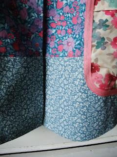 hemline detail of Dottie Angel frock in vintage Laura Ashley textiles by Karen Vallerius