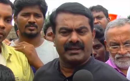 Seeman anger over Jayalalitha stickers on aid