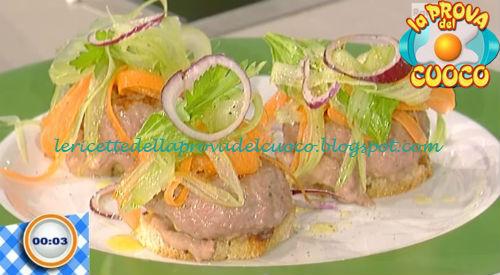 Hamburger di salsiccia con crema piccante di fagioli ricetta Bottega da Prova del Cuoco