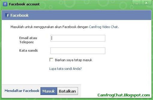 Login Camfrog Facebook Account