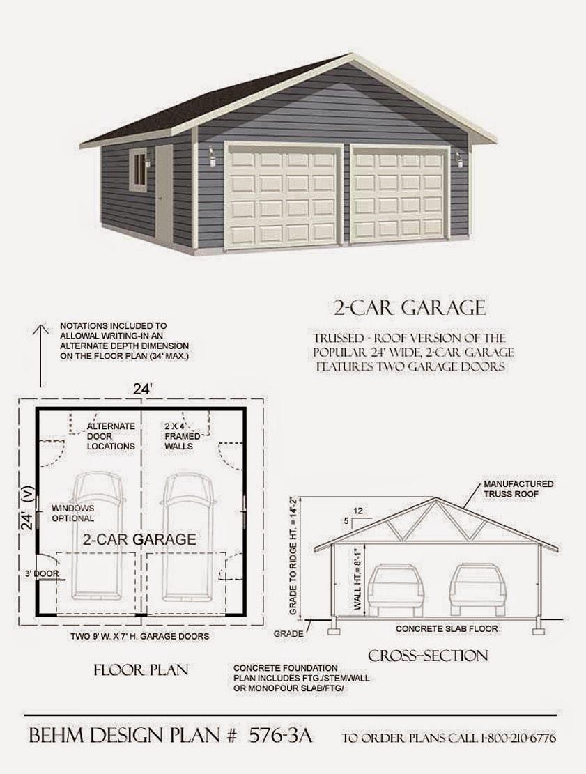 Garage Plans Blog Behm Design Garage Plan Examples Plan 5763a – 20X20 Garage Plans