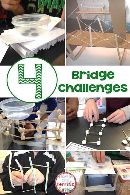 STEM - This post is all about bridges we have built in the STEM Lab! So many different versions and all super fun (and full of learning)!