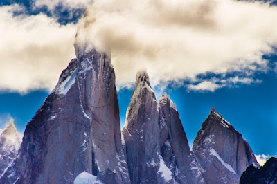 Cerro Torre, Aguja Egger, Punta Herron y Aguja Standhardt - Parque Nacional de los Glaciares