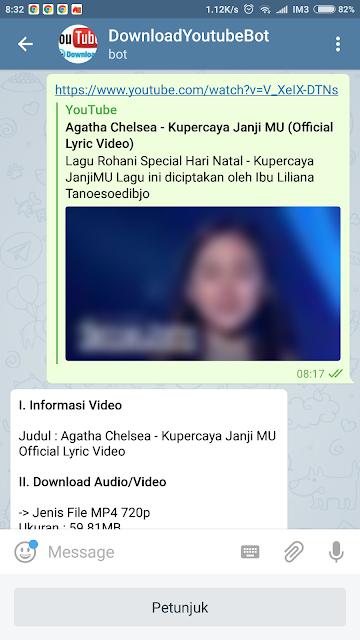 Membuat @DownloadYoutubeKuBot - Download Youtube Dengan Bot Telegram