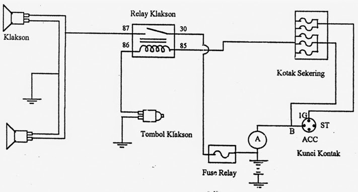 wiring diagram lampu depan