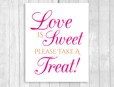 Weddings by Susan Hot Pink and Orange Printable Wedding Candy