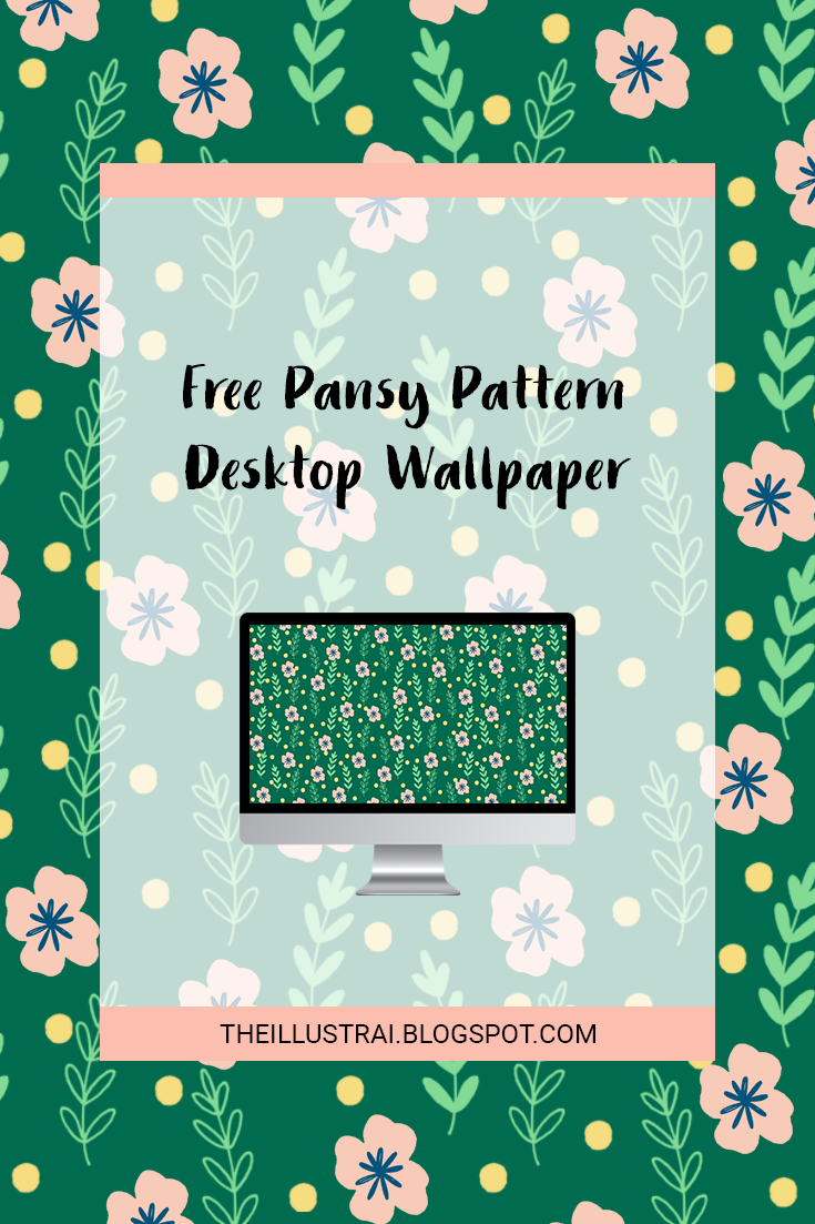 Download the free pansy pattern wallpaper for your desktop computer