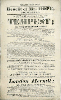 "A playbill for ""The Tempest."""