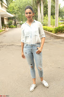 Rakul Preet Singh in Jeans and White Shirt At Jaya Janaki Nayaka le Logo Launch ~  Exclusive 040.JPG