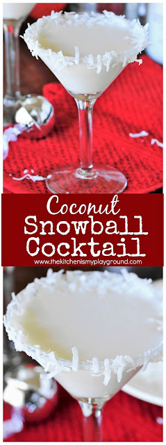 Coconut Snowball Martini image