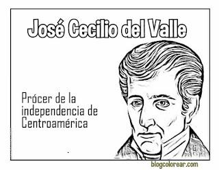colorear José Cecilio del Valle,