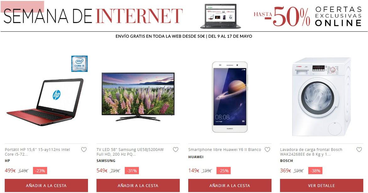 Top 10 ofertas promoci n semana de internet de el corte for Ofertas de portatiles en el corte ingles
