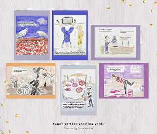 Selection of funny greeting cards