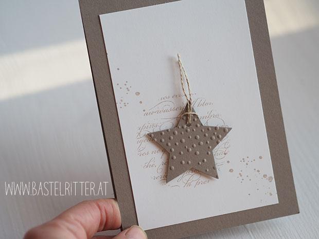 weihnachtskarte stern leise rieselt en francaise gorgeous grunge stampin up bastelritter