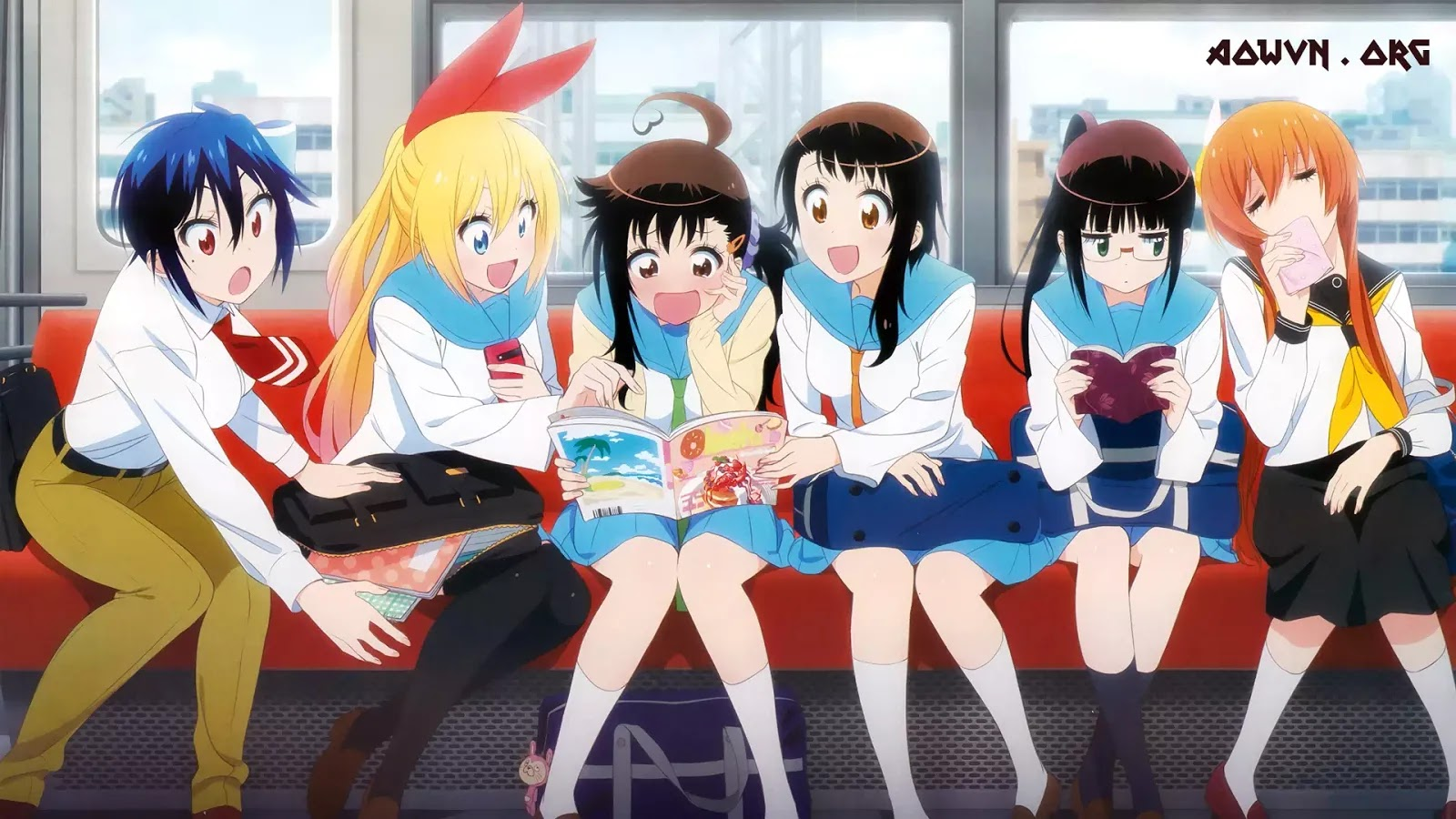 AowVN Nisekoi%2B%25281%2529 - [ Anime 3gp Mp4 ] Nisekoi BD SS1 + SS2 + OVA | Vietsub - Tình Cảm Hài Hước Cực Hay