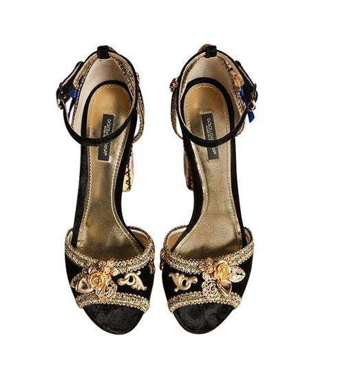 Dolce and Gabbana Embellished Sandals Worn by Bianca Balti