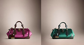 """Burberry SS13 Duchess Satin and Leather """"Blaze"""" bag Spring/Summer 2013"""