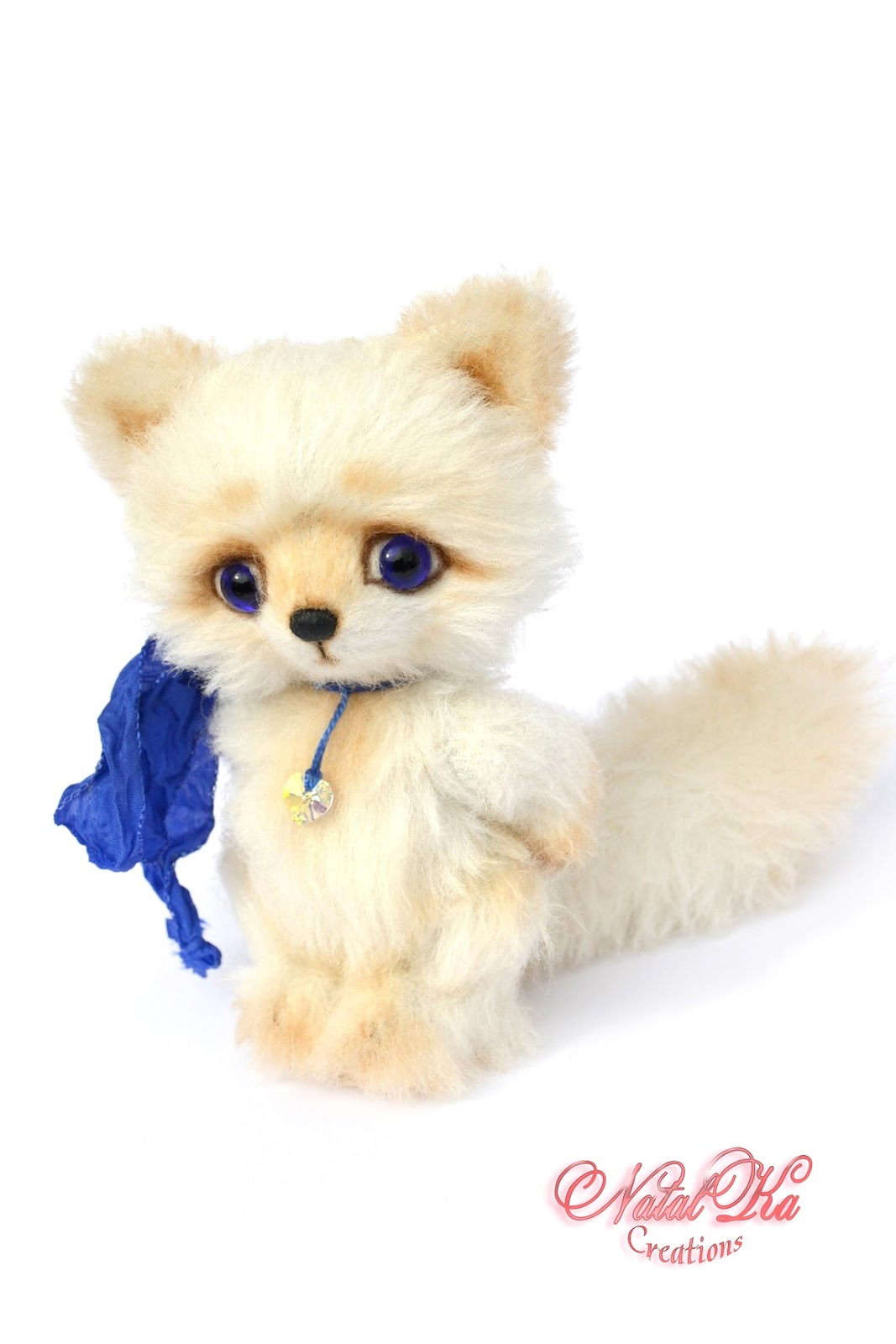 Artist teddy fox, fox, teddies, arctic fox, teddy jointed, Künstlerfuchs, Polarfuchs, Künstlerteddys, handmade by NatalKa Creations