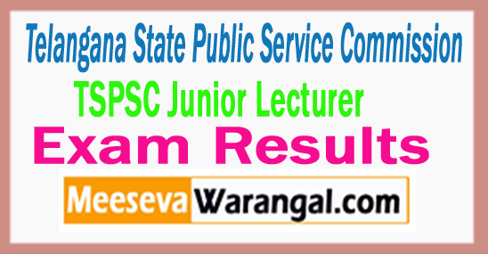 TSPSC Junior Lecturer Result 2017