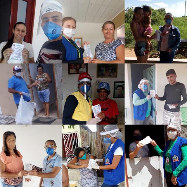 Secretaria Municipal de Saúde de Riacho dos Cavalos iniciou a distribuição de máscaras caseiras para população