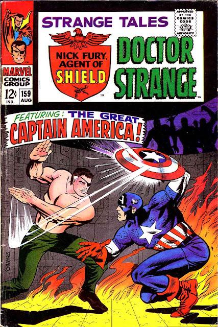 Strange Tales v1 #159 nick fury shield comic book cover art by Jim Steranko