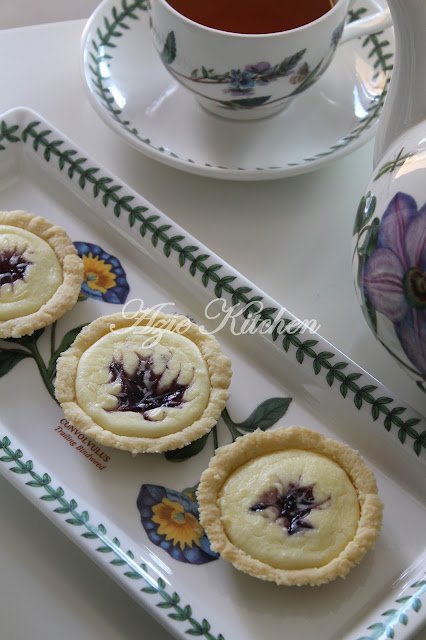 Blueberries Cheese Tarts With Love
