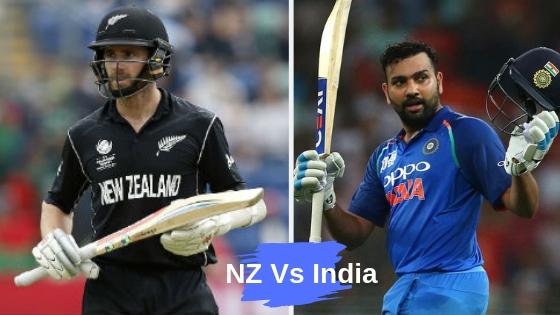 NZ VS IND SHEDUEL