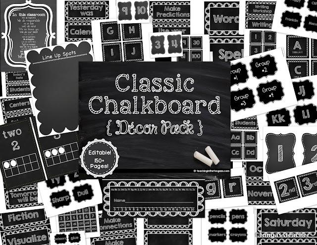 Classroom Decor Black And White : Burlap and chalkboard bulletin classroom decor