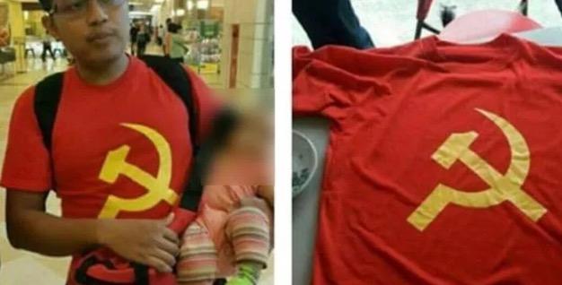 Isu Lelaki Ditahan Akibat Pakai Baju Bersimbol Komunis
