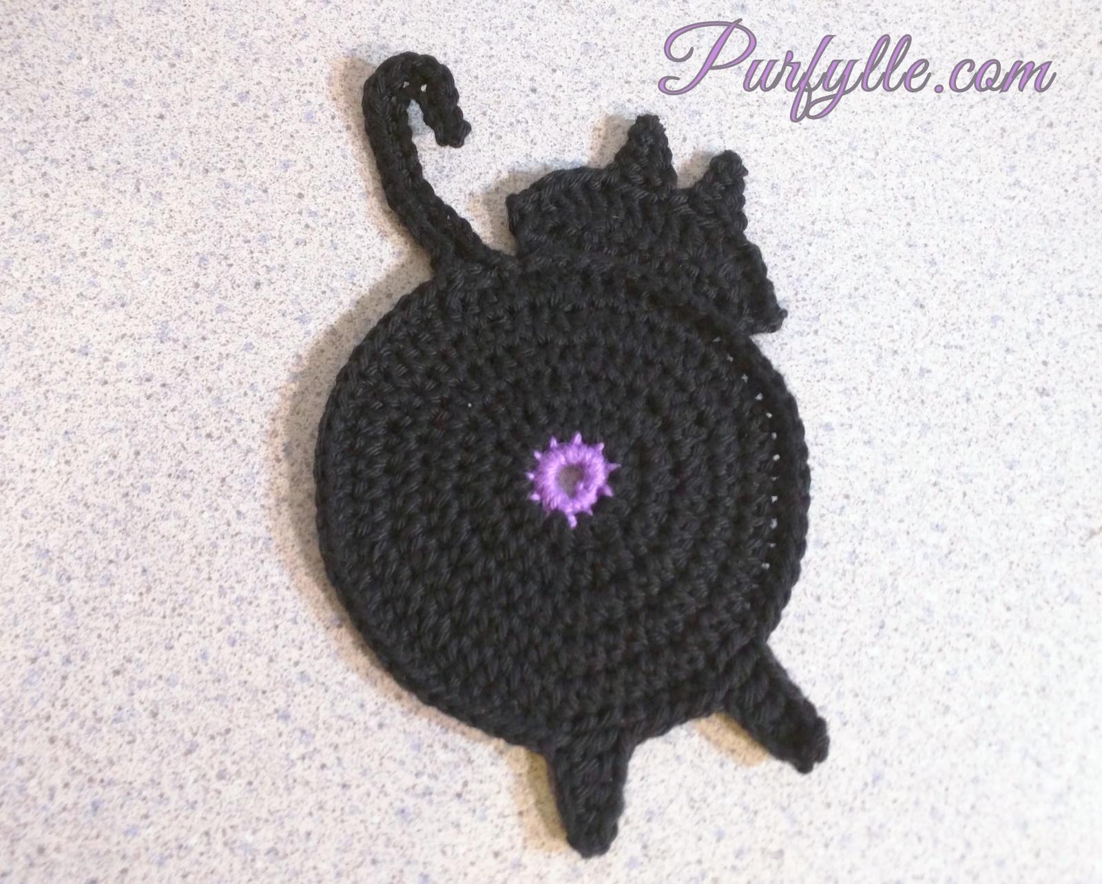 Crochet Cat Coasters Oval Doily Diagram Pinterest Peeking Puss Coaster