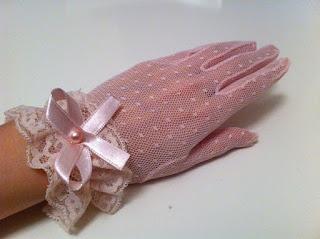 pembe tül eldiven satın al