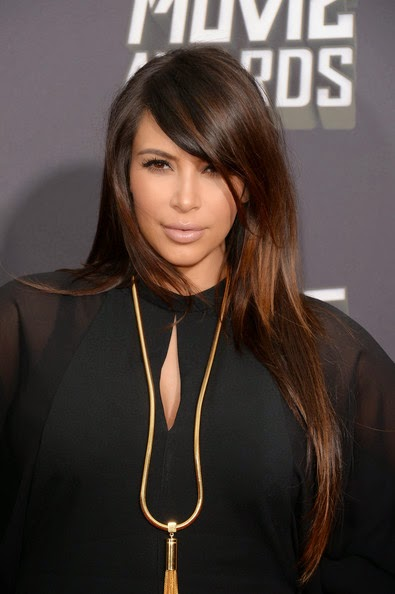 Kim Kardashian Long Hairstyles Long Straight cut